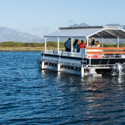 Wine tasting on the lagoon at Benguela Cove