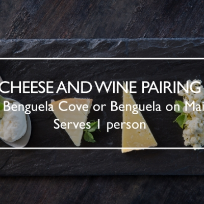 Cheese & Wine Pairing for 1 at Benguela Cove