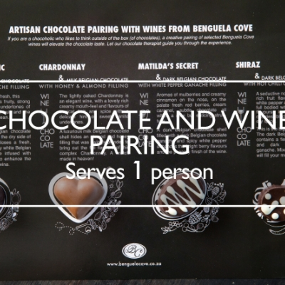 Chocolate & Wine pairing at Benguela Cove