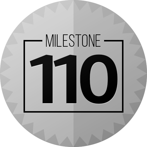 110 Checkins Milestone