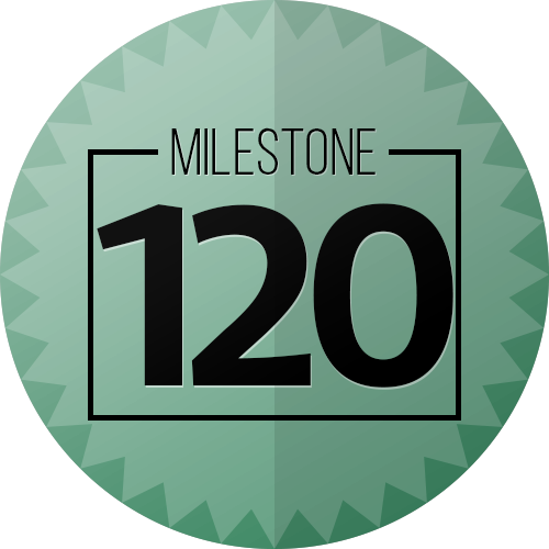 120 Checkins Milestone