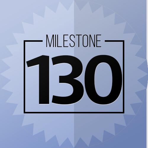 130 Checkins Mileston