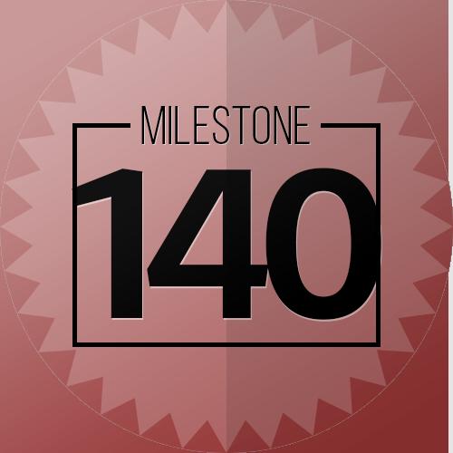 140 Checkins Milestone