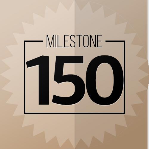 150 Checkins Milestone