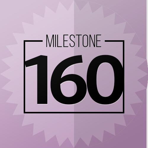 160 Checkins Milestone