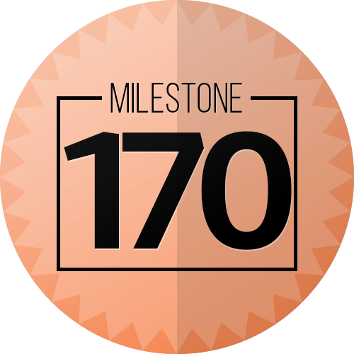170 Checkins Milestone