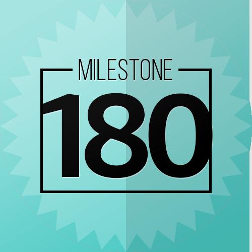 180 Checkins Milestone