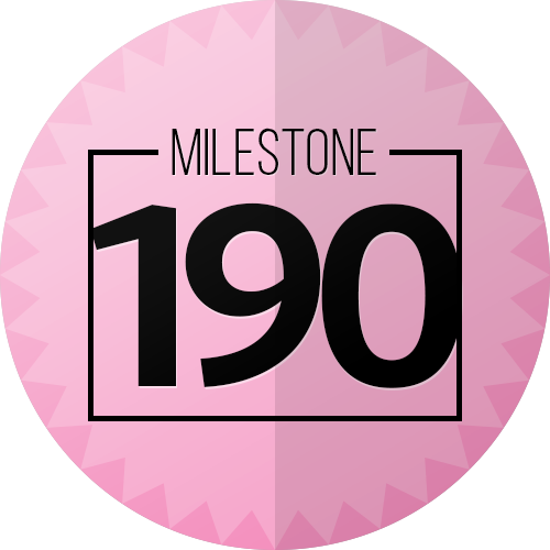 190 Checkins Milestone