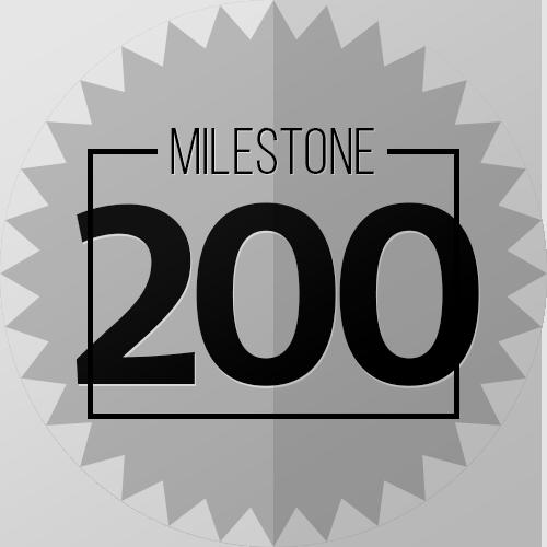 200 Checkins Milestone