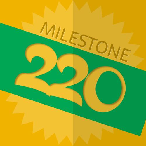 220 Checkins Milestone